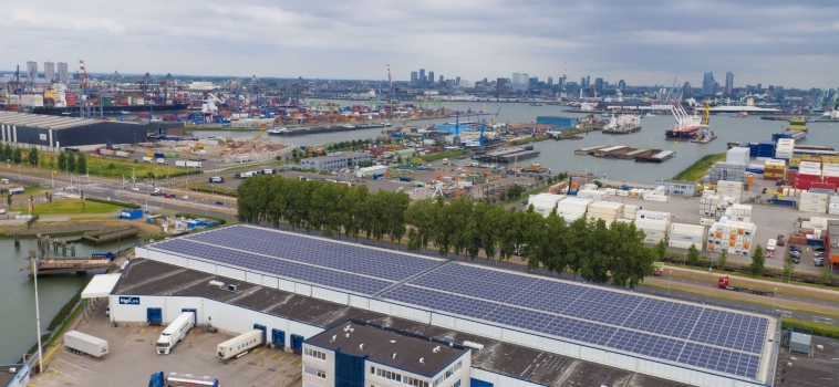 Samskip, frigoCare and Zon Exploitatie Nederland to launch the largest solar panel system in Rotterdam